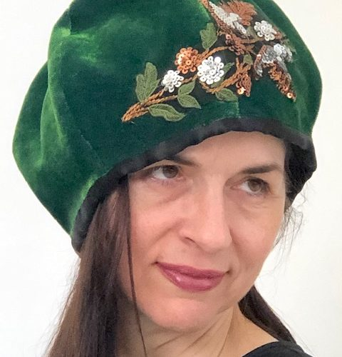 Birds In Bloom Cloche-Style Hat